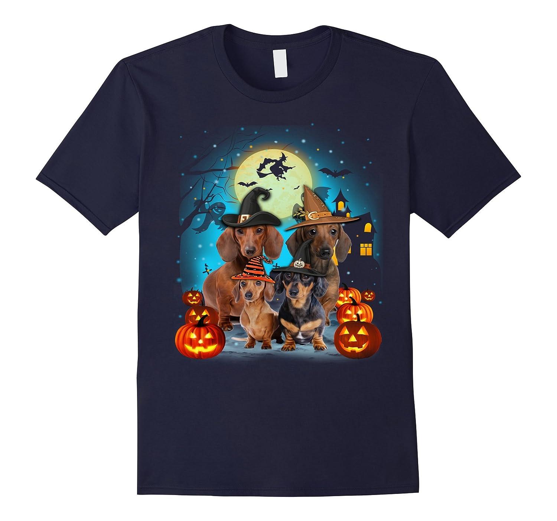 Halloween Dachshund shirt-FL