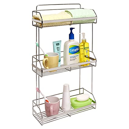 Delicieux Stainless Steel Space Saver 3 Tier Bathroom Toiletries, Towel Shelves /  Kitchen Spice Rack
