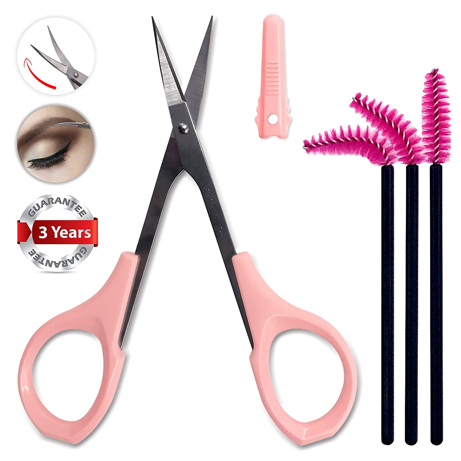 Small Nail Scissors Curved Sharp for Trimmer Precision Craft Shear Ingrown Toenail Cuticle Eyebrow Grooming Sewing with Safe Protective Cap by Tidawave
