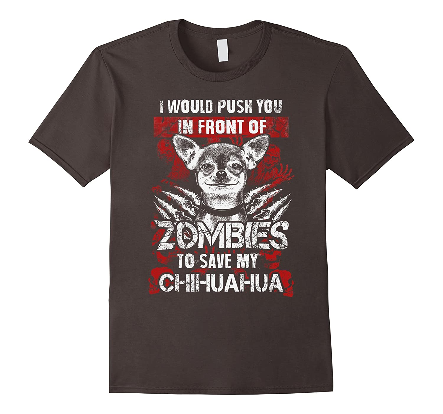 Zombies To Save My Chihuahua - Funny Halloween Shirt Gift-TH