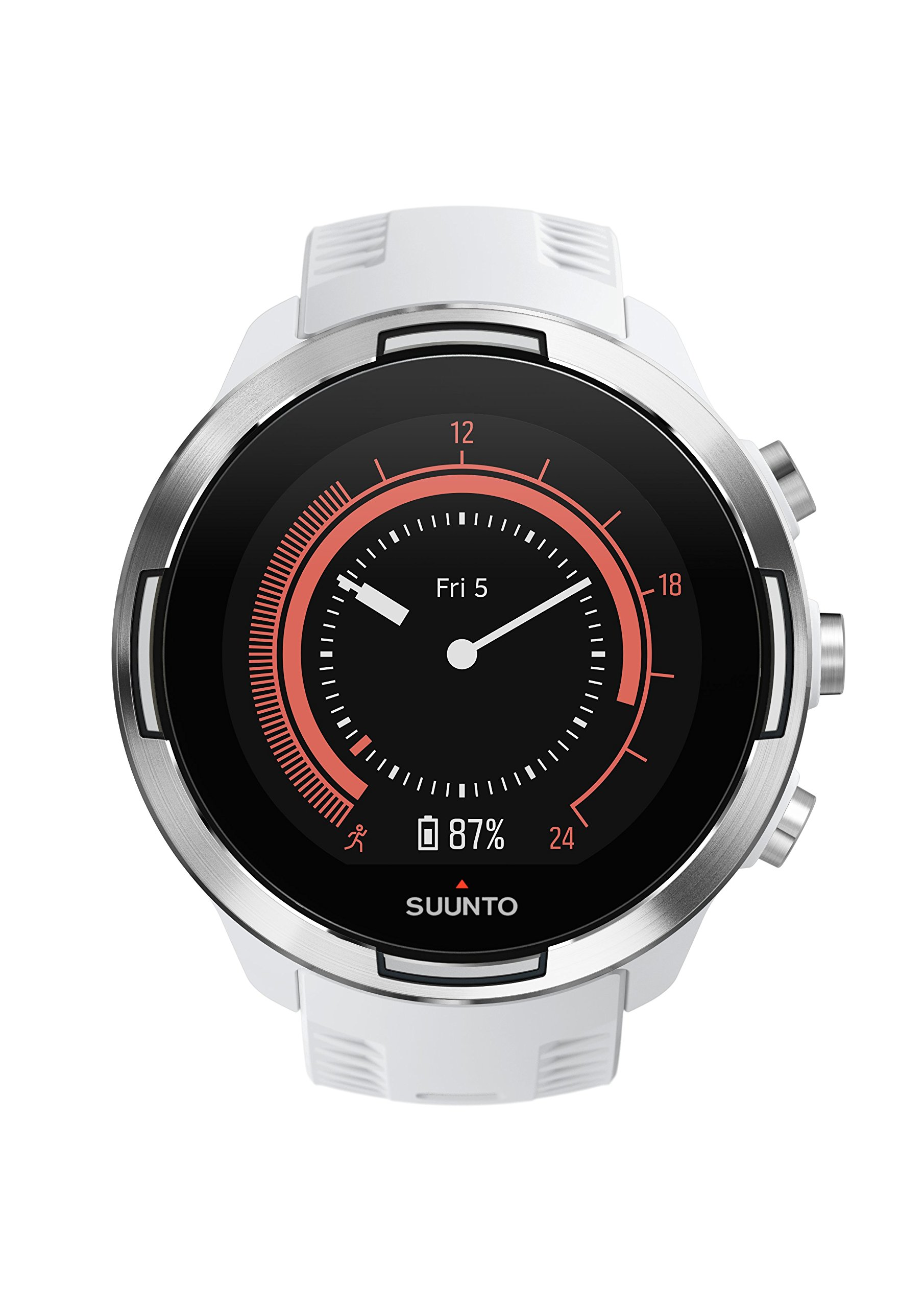 Suunto 9 Multisport GPS Watch with BARO and Wrist-Based Heart Rate (White)