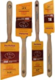 """Pro-Perfect 4 Pack Professional Paint Brushes. The """"Purdy"""" quality brush without the HIGH cost.Includes one each 1-1/2"""",2"""",2-1/2"""", and 3""""."""