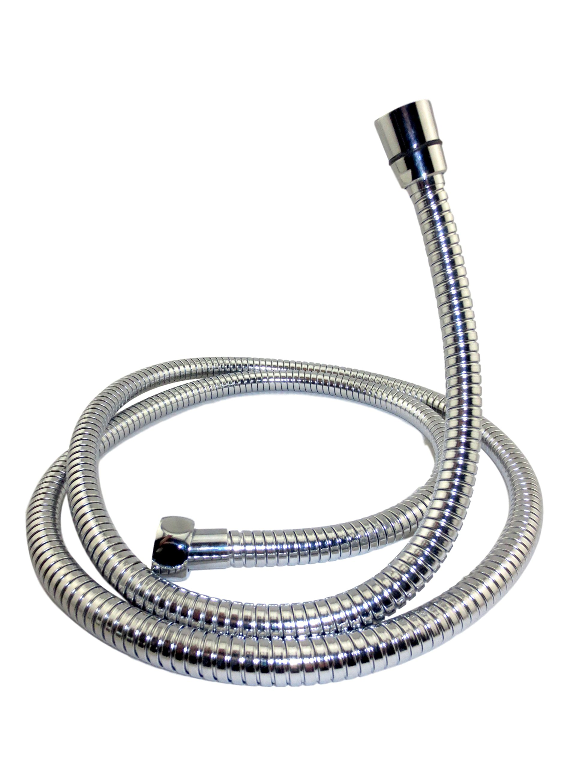 HandyMom 5-Foot Flexible Chrome Steel-encased Handheld Shower Replacement Hose by HandyMom