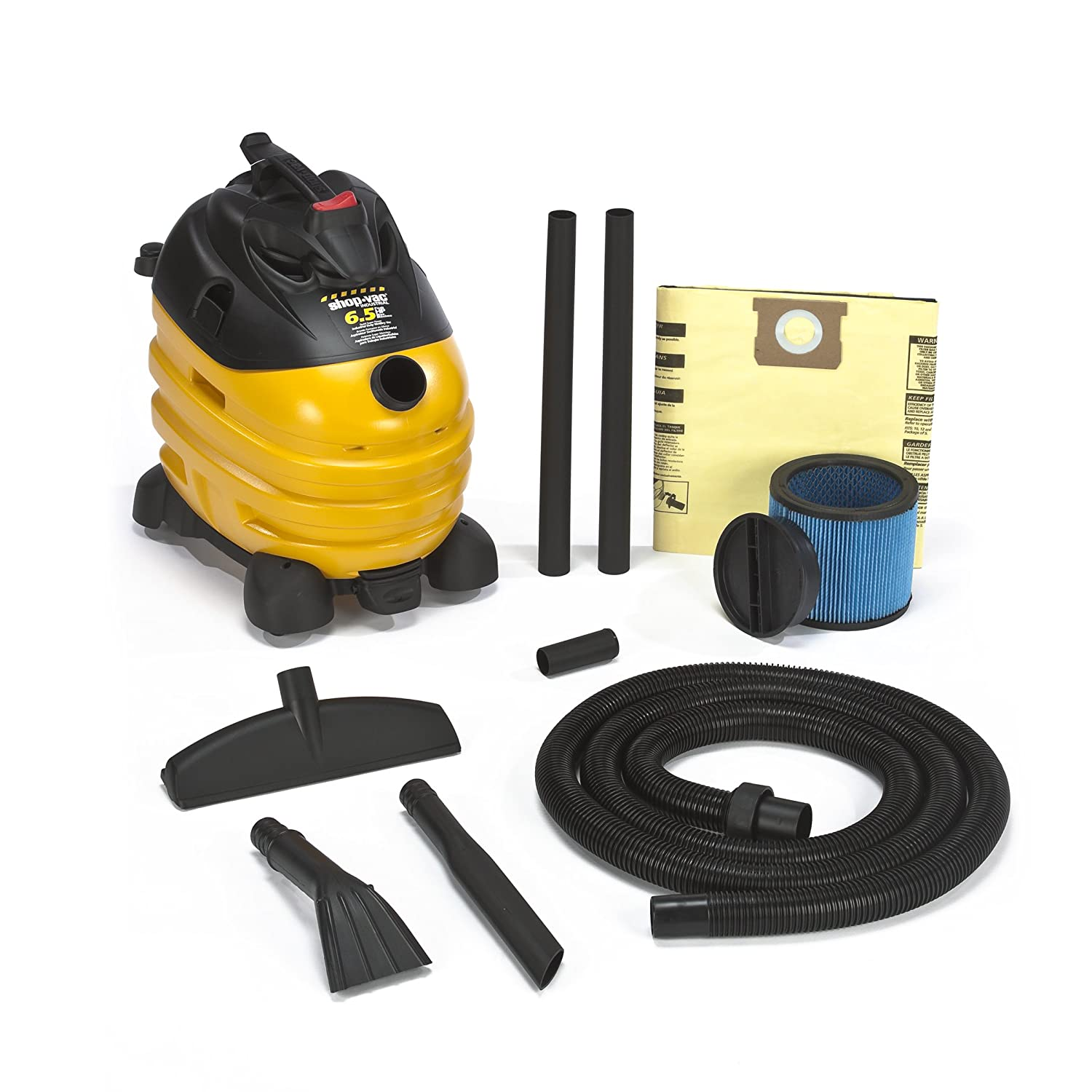 Shop-Vac 5873410 6.5-Peak Horsepower Right Stuff Wet/Dry Vacuum 10-Gallon with Tool & Cord Storage & Multifunction Accessories, Uses Type X Cartridge Filter & Type H Filter Bag