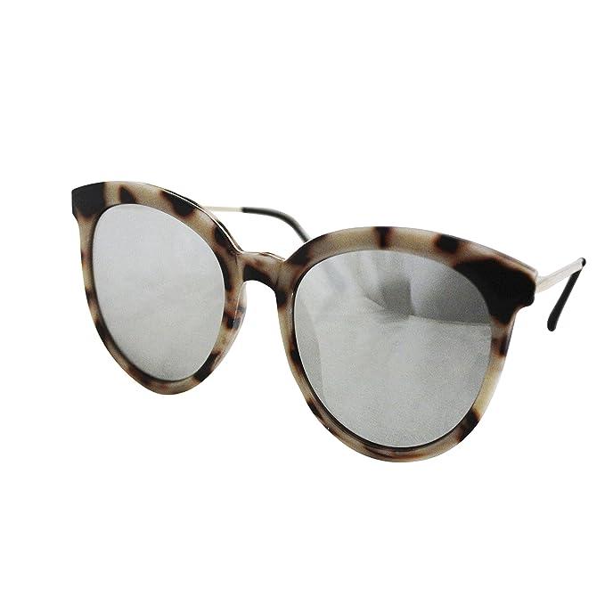 FERETI Gafas De Sol Leopardo Mujer Marron Metal Pasta ...