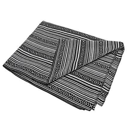 LGHome Mexican Serape Yoga Blanket 60x72inch Woven Fringe Cotton Bedspread Tablecloth Wall Tapestry