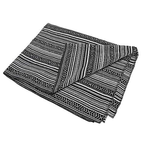 Amazon.com: LGHome - Manta para yoga, tejido de flecos de ...
