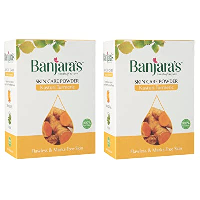 2 x Banjaras Pure Herb Kasturi Turmeric 100g by Banjara