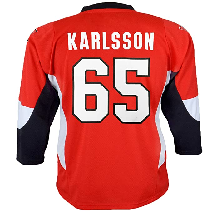 big sale 74025 9b36e Amazon.com: Outerstuff Ottawa Senators Erik Karlsson #65 Red ...