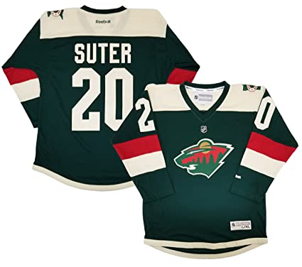 factory authentic ed0d1 410a2 Ryan Suter Minnesota Wild Green Youth Stadium Series Replica Jersey