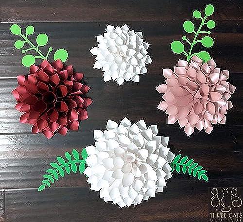 Easy DIY Craft: Paper Dahlias | Fall paper crafts, Paper dahlia ... | 457x500