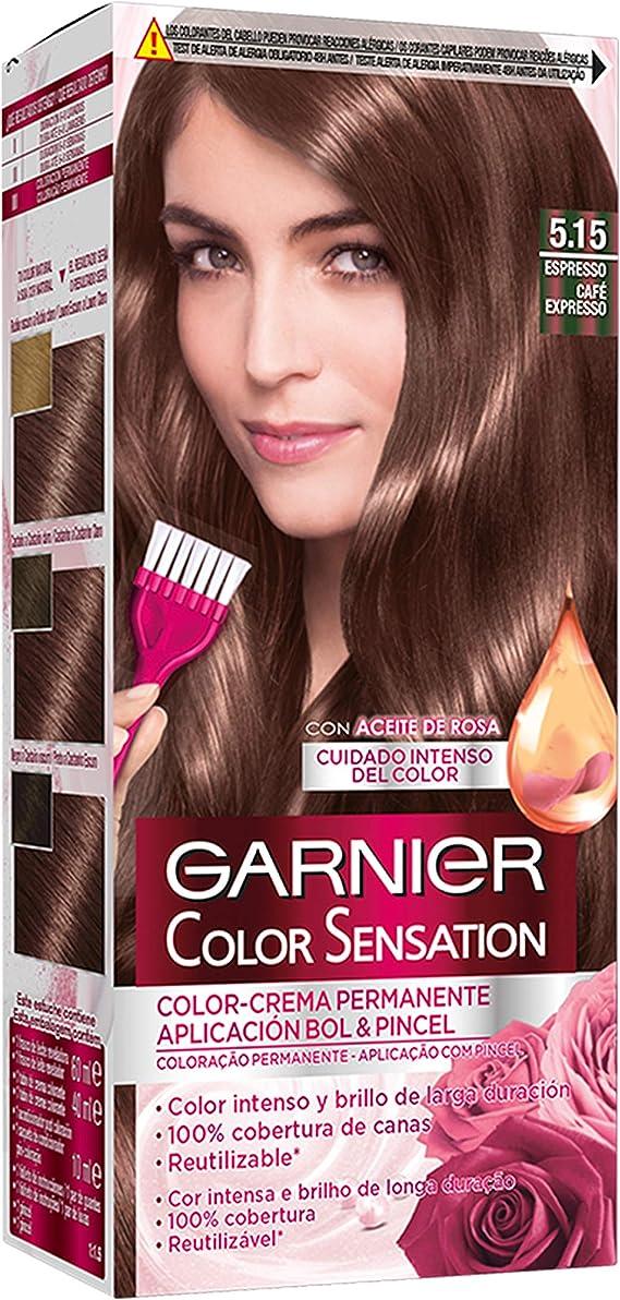 Garnier Color Sensation - Tinte Permanente Espresso 5.15 ...
