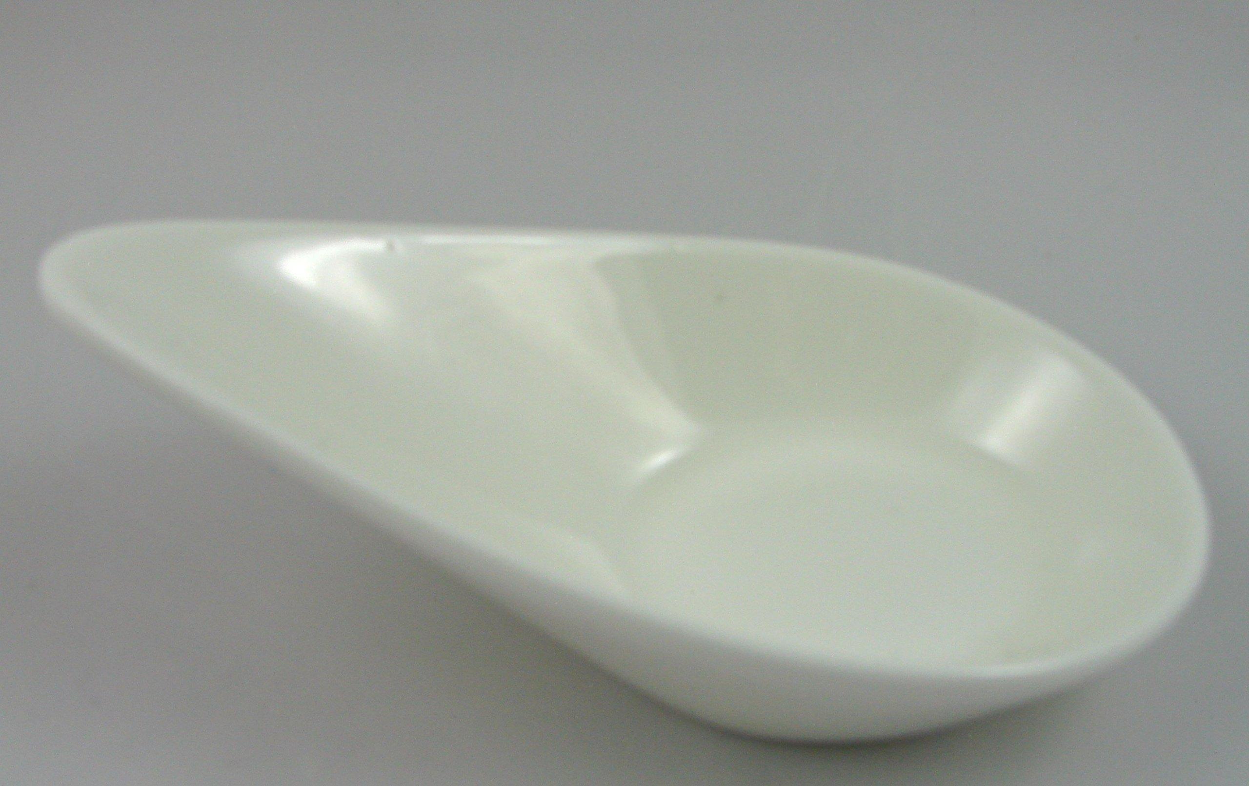 Super White Porcelain Tear Drop Shape Sauce Dishes 1 Dz (4.25'' (1 oz)) OT27275