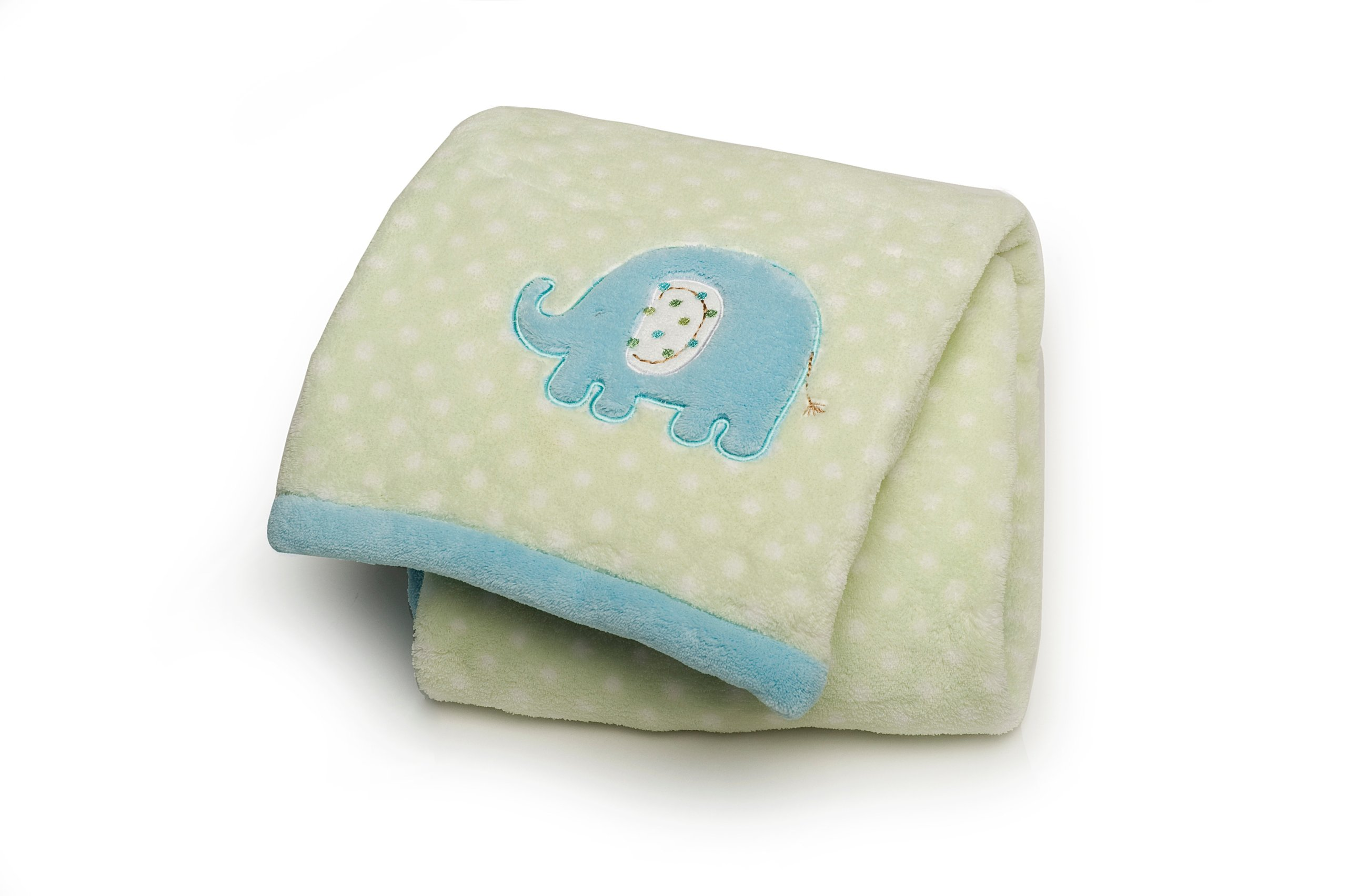Carter's Easy Printed Embroidered Boa Blanket, Elephant (Discontinued by Manufacturer)