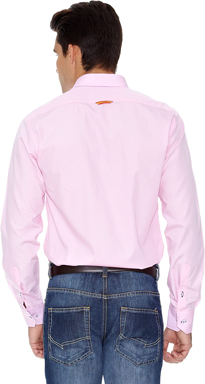 La Española Camisa Hombre Fitted Rosa XL: Amazon.es: Ropa y accesorios