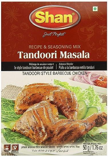 Shan Tandoori Masala for BBQ Chicken - 6 Pack (1.76 Oz/50g Each.