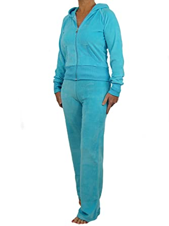 0a09f232042 Love Lola Womens Velour Tracksuits Ladies Full Luxury Lounge Suits Hoodys  Joggers Heart Designer Inspired Plus Sizes ( 16-18   X-Large