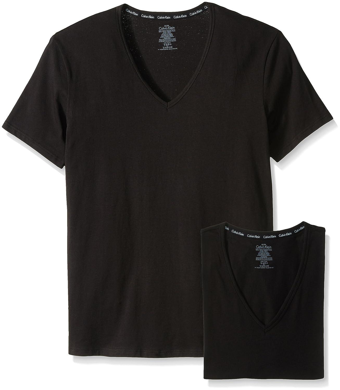 5870156f495 Calvin Klein Men's 2-Pack Modern Cotton Stretch V-Neck T-Shirt at Amazon  Men's Clothing store: