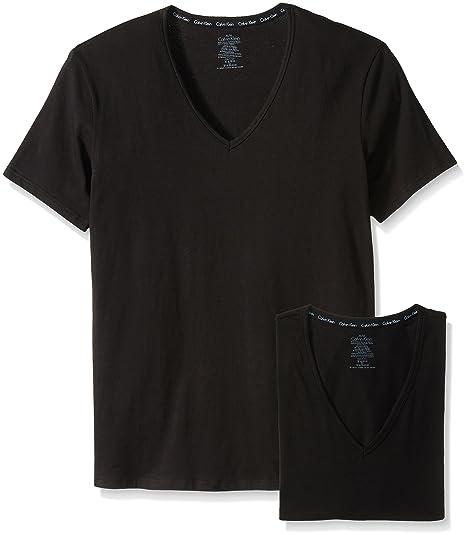 89a245a5 Calvin Klein Men's 2-Pack Modern Cotton Stretch V-Neck T-Shirt
