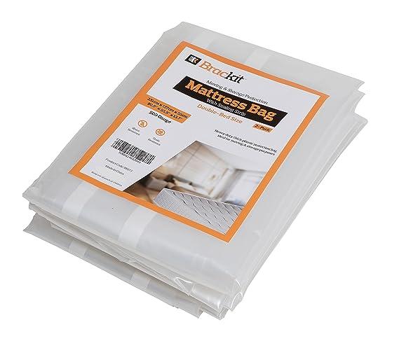 Bolsa para colchón para mudanzas, alta resistencia, tamaño doble, 500 gramos 231 x 137 x 35 cm. Pack de 2: se adapta a colchones de 120 x 190 x 15 cm.