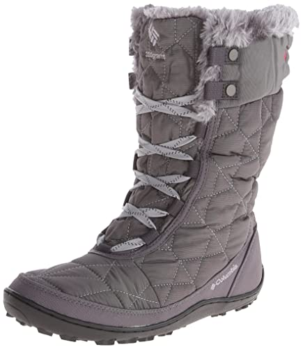 Columbia Womens Minx Mid II OmniHeat Winter Boot       Shale Bright Red