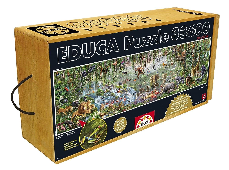 us toys JOHO9 16066.0 Hansen Co Educa 33,600 Piece Wild Life Puzzle with Wheeled Wooden Carry Case John N Inc