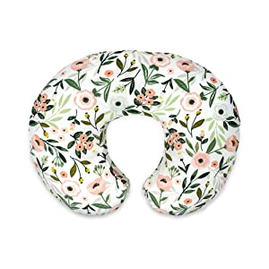 Boppy Original Nursing Pillow & Positioner, Pink Garden, Cotton Blend Fabric with Allover Fashion