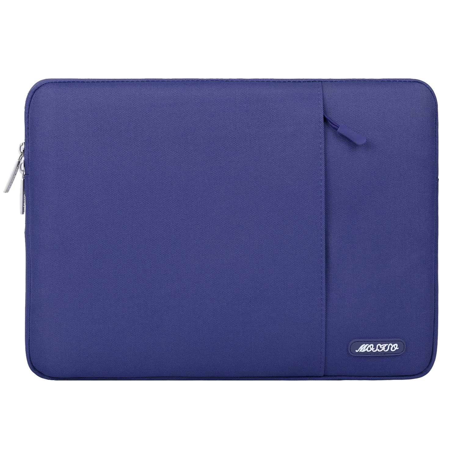 Mosiso Polyester Vertical Style Water Repellent Laptop Sleeve Case Bag Cover with Pocket for 13-13.3 inch MacBook Pro, MacBook Air, Notebook, Deep Teal