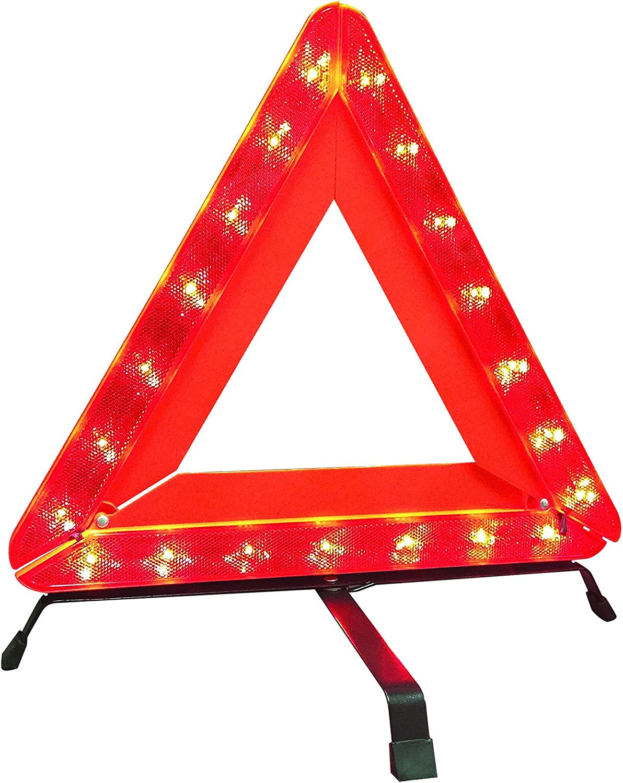 Deflecto 72-1121-01 Warning Triangle 21 LED Bulbs, 18, Collapsible