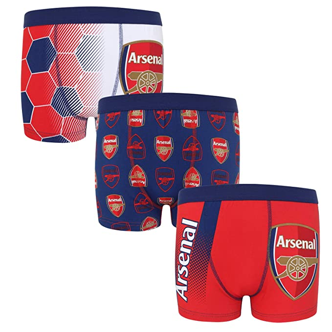 Arsenal FC - Pack de 3 calzoncillos oficiales de estilo bóxer ...