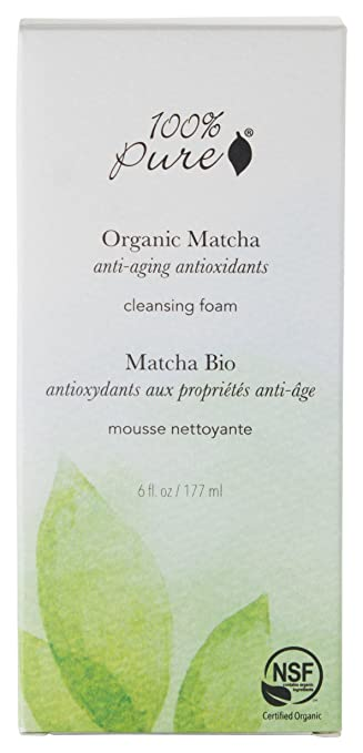 100% Pure Matcha Green Tea Cleansing Foam 6 oz