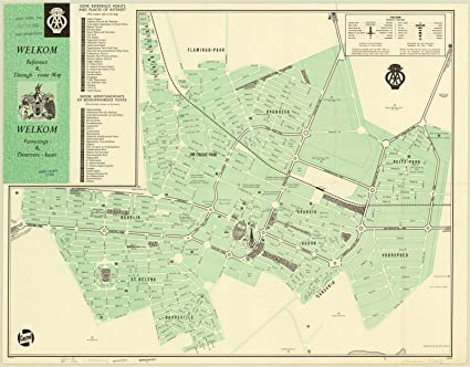 Amazon.com: Historic Map | Welkom, South Africa 1964 | Welkom