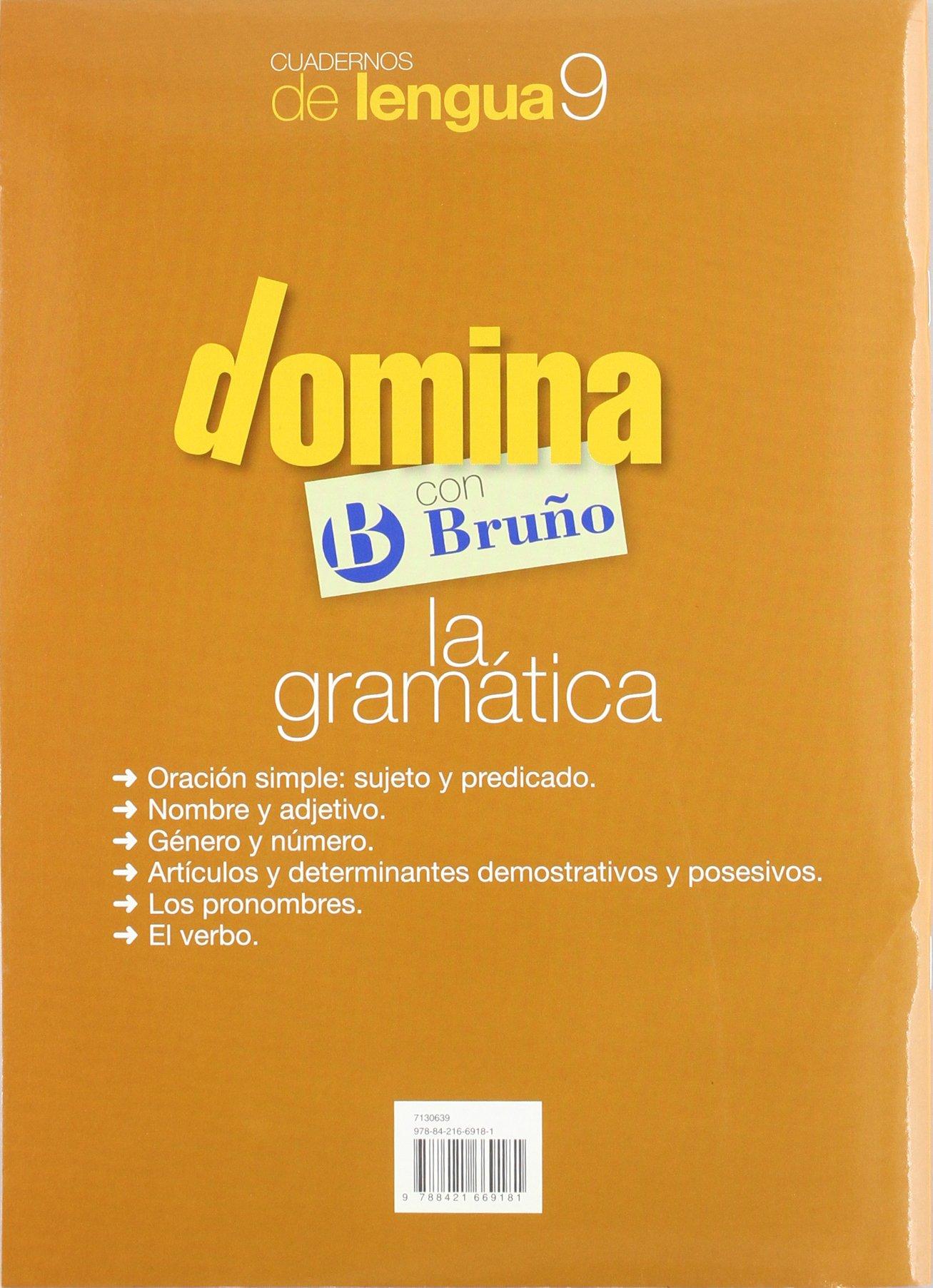 Cuadernos Domina Lengua 9 Gramática 3 Castellano - Material Complementario - Cuadernos De Lengua Primaria - 9788421669181: Amazon.es: Juan Cruz Martínez: ...