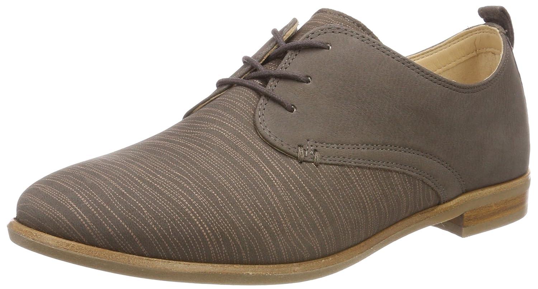 Clarks Alice Mae, Zapatos de Cordones Brogue para Mujer 37.5 EU|Gris (Taupe Combi)