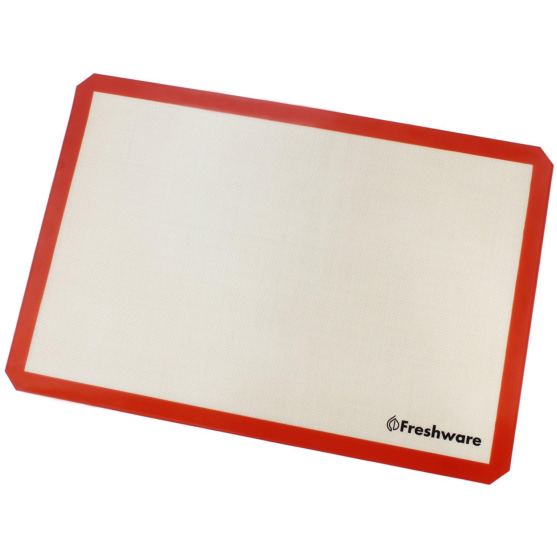 Freshware Silicone Non-Stick Baking Mat, Big (2/3) Size, 19.5 x 13.6 inch, BM-103