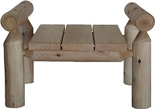product image for Lakeland Mills Cedar Log Ottoman, Natural