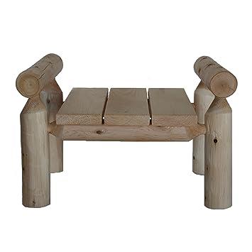 Strange Lakeland Mills Cedar Log Ottoman Natural Amazon Co Uk Dailytribune Chair Design For Home Dailytribuneorg