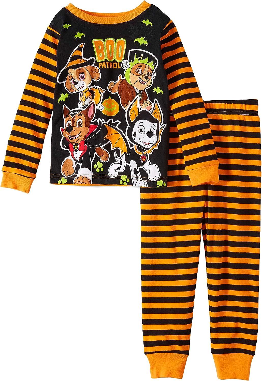 Nickelodeon Paw Patrol Glow in The Dark Halloween 2 Piece Toddler Boys Pajama Set