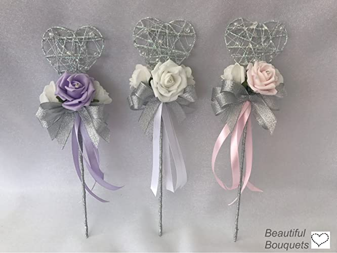 wedding flower girl wands: Amazon.co.uk: Handmade
