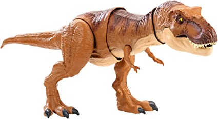 Jurassic World Thrash /'N Throw Biting Roaring Sound Tyrannosaurus Rex Figure Toy