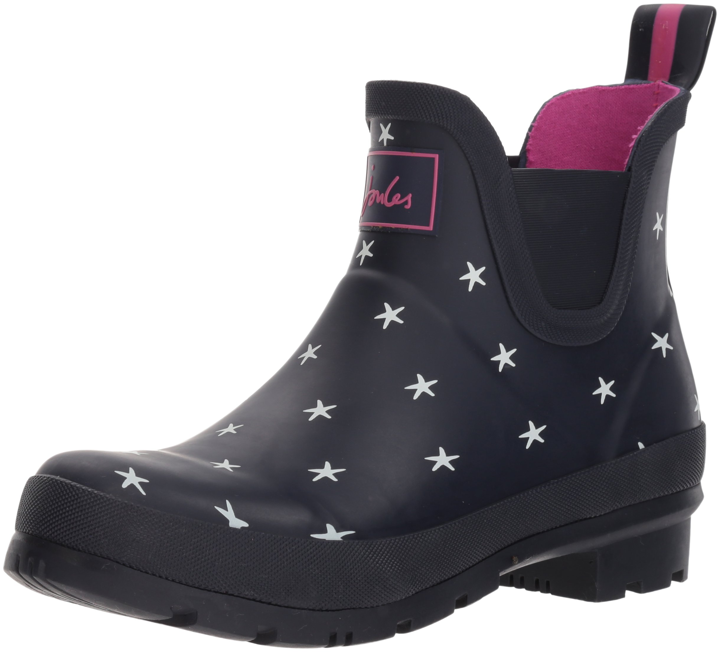 Joules Women's Wellibob Rain Boot, French Navy Star Fish, 9 Medium US by Joules