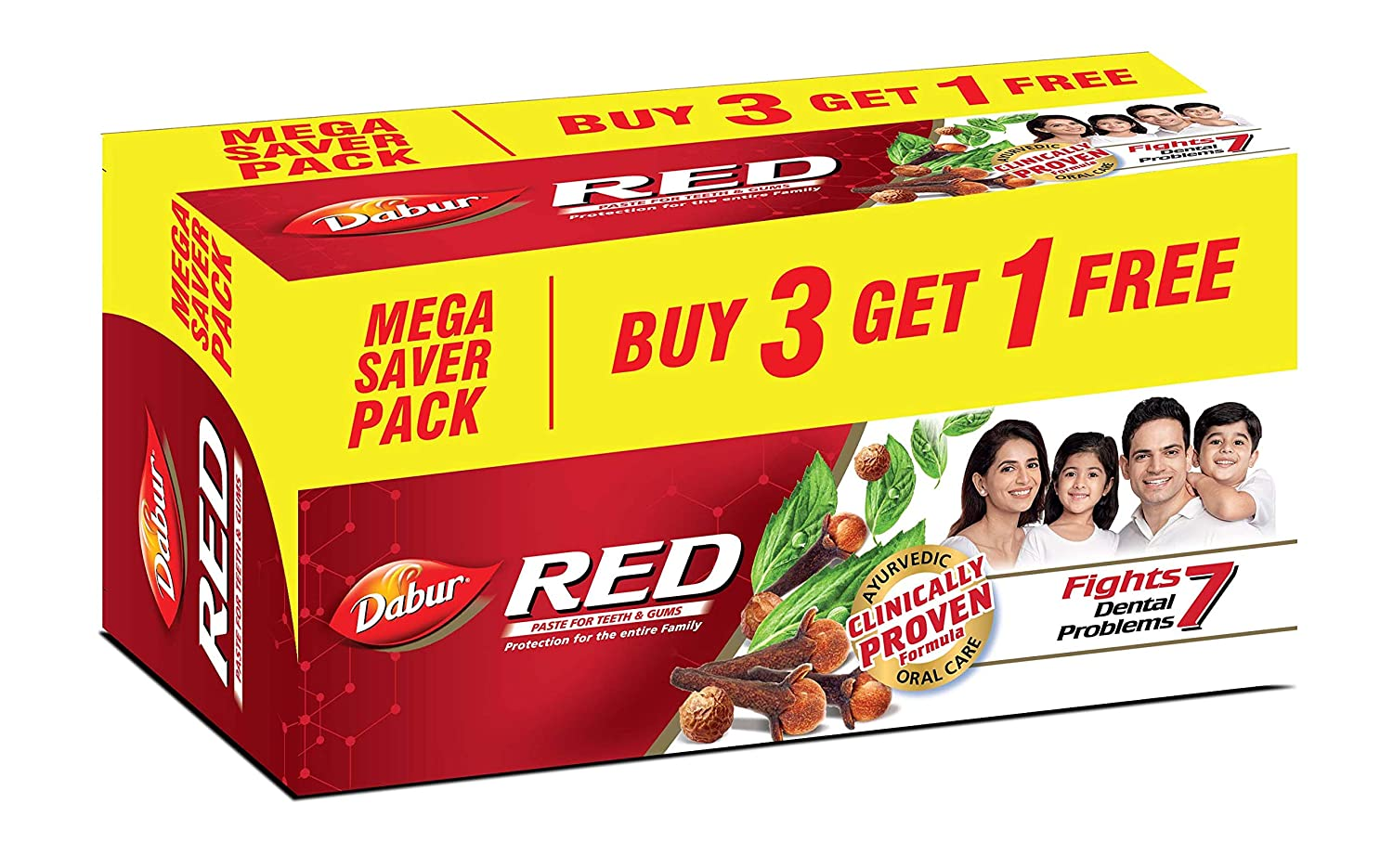 Buy Dabur Red Paste, 600g (Buy 3 Get 1 Free) & Dabur Red Paste