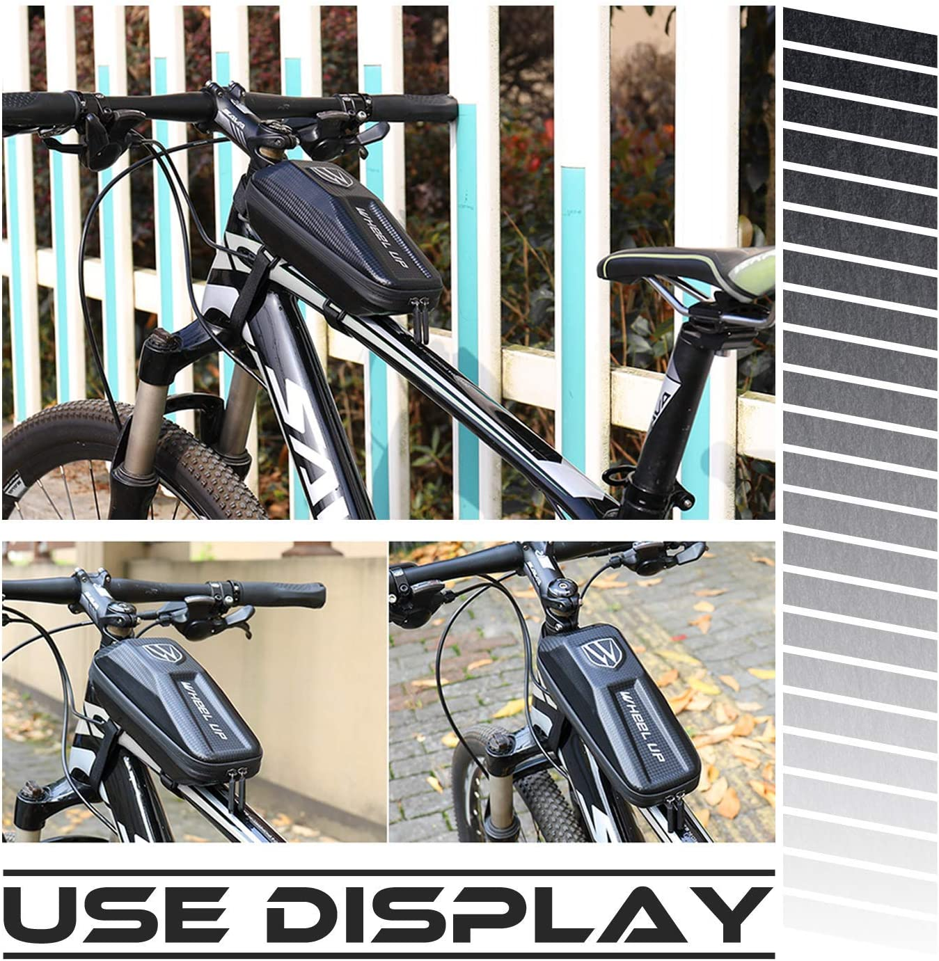 Happyroom Borsa Telaio Bici Impermeabile Borsa Telefono Bicicletta Borsa Bici Cellulare Borsa MTB Telaio per iPhone XS Max//8 Plus//7 Plus//Samsung Note8//S9//S10 sotto eccetera Smartphone