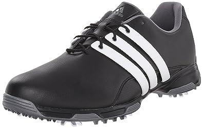 adidas Men's Pure TRX Golf Shoe, Black/Ftwr White/Dark Silver Metallics,