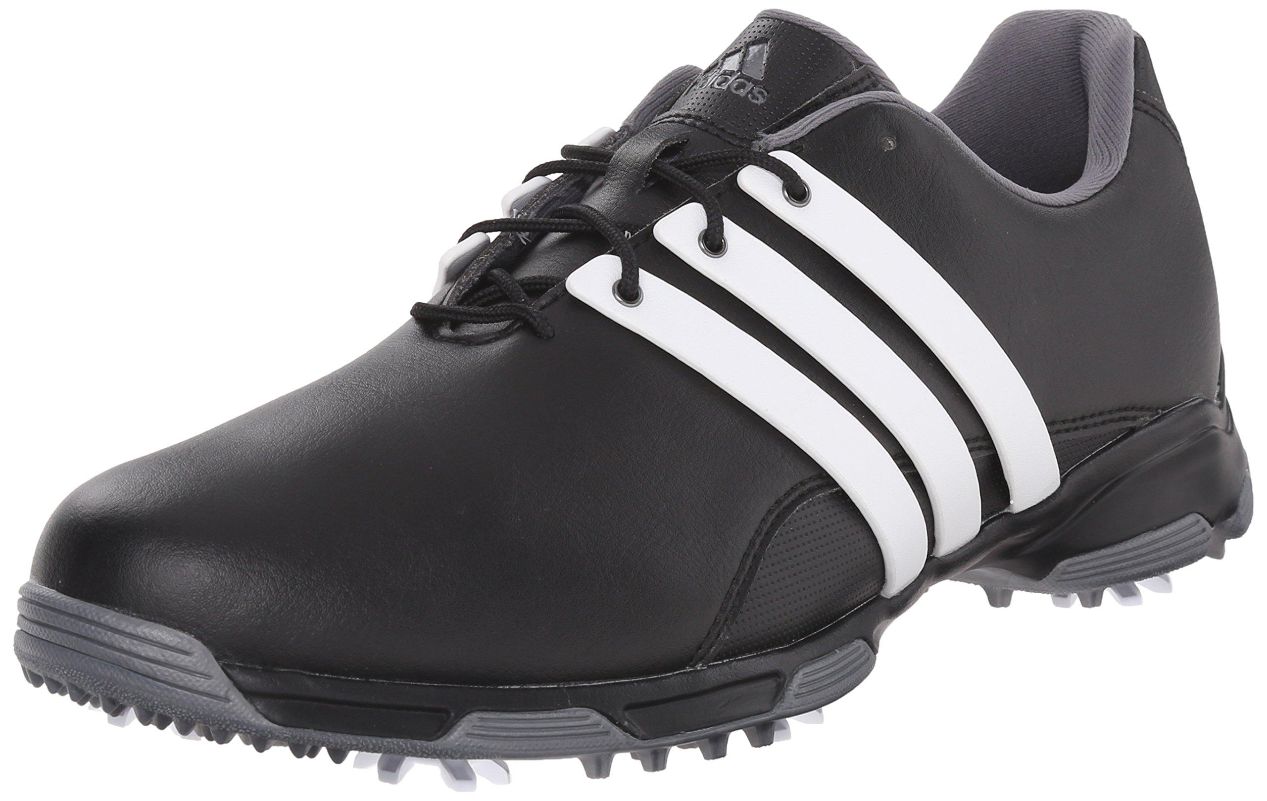 adidas Men's Pure TRX Golf Shoe, Black/FTWR White/Dark Silver Metallics, 10.5 M US