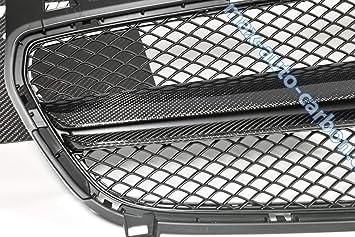 Parrilla frontal de carbono para radiador compatible con A45 AMG W176.: Amazon.es: Coche y moto