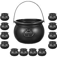 Bulk 24 Black Cauldron Candy Kettles Plastic Halloween Decorations, Kettle Candies Holder, Party Favors Décor, By 4E's…