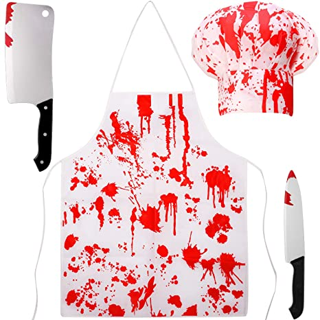 4 Piezas Disfraces de Carnicero Sangriento de Halloween Set ...