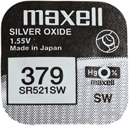 Maxell 379 Sr521sw Sb Ac Knopfzelle Uhrenbatterie Silberoxid 1 55 V