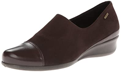 ECCO Women's Abelone GTX Slip-On Flat,Coffee,39 EU/8-
